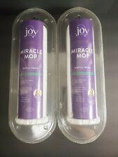 2 Joy Mangano Miracle Mop Refill Head Super Absorbent Microfiber NIP