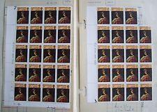 GB 1973 39 x 7.5p stamps SG 933, Sir Joshua Reynolds, 2 blocks (4x6; 4x4-1), MNH