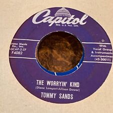 Tommy Sands 45 The Worryin' Kind 1958 Rockabilly Billboard # 69 US Press NOS VG+