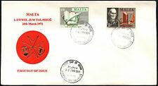 Malta 1971 Literary Anniversaries FDC First Day Cover #C40718