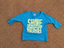 Justice Girl's 3/4 sleeve Royal Blue shirt size 10