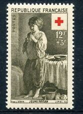 STAMP / TIMBRE FRANCE NEUF N° 1089 * CROIX ROUGE JEUNE PAYSAN / NEUF CHARNIERE