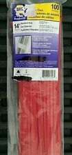 """100 NAPA 14"""" 50 LBS NYLON WIRE CABLE ZIP TIES RED"""