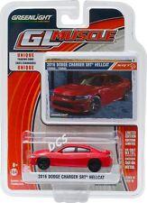 GREENLIGHT MUSCLE 2016 DODGE CHARGER SRT HELLCAT 1/64 DIECAST CAR MODEL 13160-F