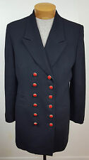 Vintage Christian Dior Wool Double Breasted Red Button Coat Size  M
