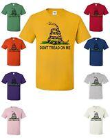 Don't Tread On Me T-Shirt Patriotic Political Shirt Gadsden Flag American Flag