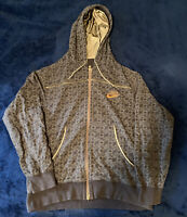 Mens Nike Air Zip up Hoodie Brown Size M