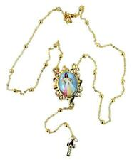 Rosary Necklace with Divine Mercy Saint Pope John Paul II Centerpiece, 20 Inch
