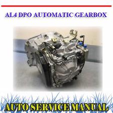 PEUGEOT CITROEN AL4 DPO AUTOMATIC GEARBOX SERVICE REPAIR & PARTS MANUAL ~ DVD