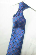 """Nordstrom Blue with Black and Pink Squares Silk Tie 68 X3.5"""" XL"""