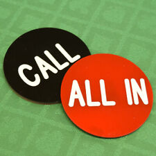 "All In / Call 2.5"" button great for Poker Tournament Games"