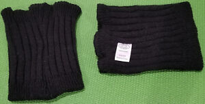 Steve Madden Leg Warmers Preowned Used Pair Set of Two Black
