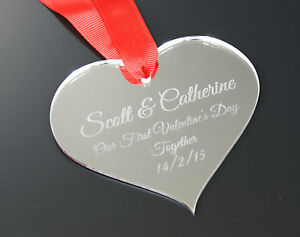 Personalised Our 1st Valentines Day Anniversary Wedding Acrylic Love Gift