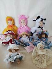Lot of 8 Cameo Kids Collection Miniature Porcelain Dolls Beautiful