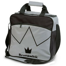 Brunswick Blitz Single Tote 1 Ball Bowling Bag Silver