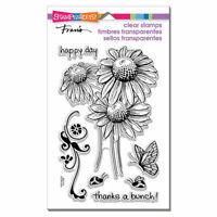Daisy Thanks Flower Clear Acrylic Stamp Set by Stampendous Stamps SSC1112 NEW!