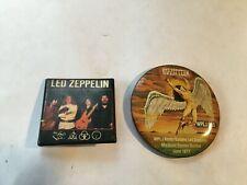 2 ~ Vintage Led Zeppelin Buttons ~ 1977 Madison Square Garden & Unknown Venue