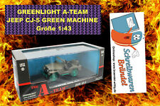 Greenlight Hollywood A-TEAM JEEP CJ-5 GREEN MACHINE Modellauto - Militär - 1:43