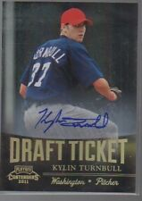 KYLIN TURNBULL 2011 PLAYOFF CONTENDERS DRAFT TICKET AUTO CARD #DT28