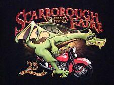"""""""Drag Race"""" Scarborough Fair Renaissance Festival Dragon Motorcycle T Shirt M"""
