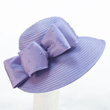 NEW Giovannio Lavender Purple BRIMMED HAT with Bow