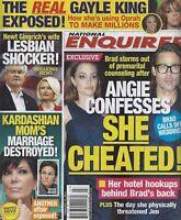 National Enquirer Magazine February 13 2012 Angelina Jolie Brad Pitt Kris Jenner