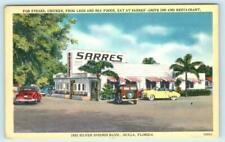 OCALA, Florida FL ~ Roadside SARRES' DRIVE INN Frog Legs? 1950s Cars  Postcard