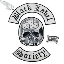 Black Label Society Embroidered Iron Badge/Patch 4pcs Set Back Biker Jacket