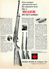 1968 Print Ad of Sturm Ruger 10/22 Autoloading Carbine Sporter & International