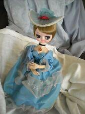 Bradly Bradley vintage collectible Big eye boudoir doll blue  decoration
