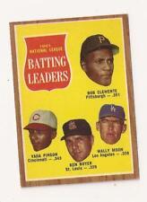 Roberto Clemente Leader card- 1962 Topps- 1961 Nl Batting Leaders- #52