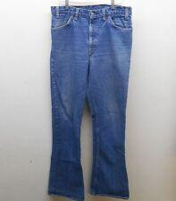 Men's Vintage 1970's Blue Denim Bell Bottom 646 Jeans sz: 36x36 (# 16713 L) ^