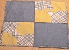 Bow Tie Reversible Doll Quilt Early Collectible