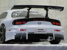 1/10th scale R/C drift car, cannon exhaust pipe, CNC billet machined alloy
