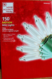 150 COUNT CLEAR CHASER / MOTION LIGHTS for CHRISTMAS, WEDDING, DECK