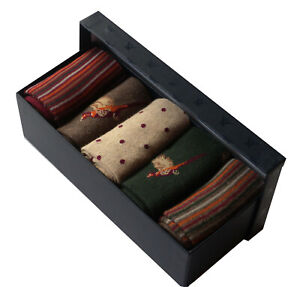 Mens 5 pairs Gift Box Wild Bird Design Socks Value Father's Day Christmas