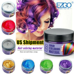 7Color Hair Color Pomade Cream Wax Temporary Modeling Semi Permanent