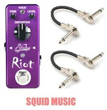 Suhr Riot Mini Distortion Guitar Effects Pedal True Bypass ( 2 MXR PATCH CABLES)