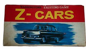Waddingtons Z-Cars Board Game Original Vintage 1960's Version