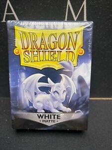 Dragon Shield - 60 Standard Sized Card Sleeves - White - Matte