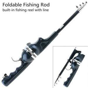 1.4m Foldable Fishing Rod Built-in Fishing Reel 80m Line Travel Portable Lure