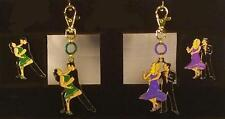 "Unique Ballroom Dance Clip Chain Magnet Combo: ""Salsa Verde"" & ""Steppin' Out"""