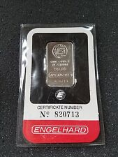 1oz Platinum bar bullion Engelhard in assay