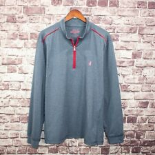 Johnnie-O PREP-FORMANCE Men's 1/2 Pullover Sweater Gray Size 2XL Logo