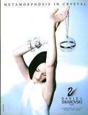 Publicité Contemporaine  Bijoux Daniel SWAROVSKI  1995  P 33