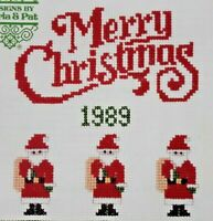 1989 Counted Cross Stitch Pattern Book Goria & Pat 17 Projects Christmas 6504F