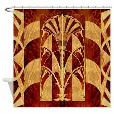 "Harvest Moons Art Deco Panel  Decorative Fabric Shower Curtain 69""x70"""