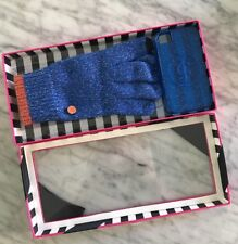 NEW JUICY COUTURE Blue Glitter Gloves + Apple iPhone 4 / 4s Silicon Case Set $78