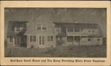 Yarmouthport Cape Cod MA Red-Rose Guest House Tea Postal Card w/ Advert