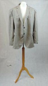 Debenhams Maine Tan Herringbone Suit Jacket Size Xxl Rrp £95 CR017 AA 02
